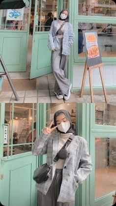 Modern Hijab Fashion, Street Hijab Fashion, Hijab Fashion Inspiration, Kpop Fashion Outfits, Muslim Fashion, Casual Hijab Outfit, Ootd Hijab, Hijabs, Clothes