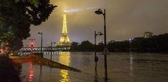 París cierra sitios emblemáticos por crecida del río Sena...