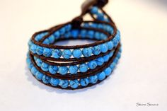 Turquoise Triple Wrap Bracelet by StoneSource on Etsy, $39.00