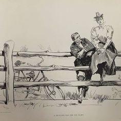 Amor ciclista (ilust.: Charles Dana Gibson 1897). #AmoresCiclistas by ciclosfera