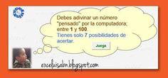 ExceLuisABN Matemática y Excel: Adivina un número entre el 1 y el 100.