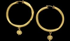 A pair of Western Asiatic gold earrings  Iran, circa 3rd-4th Century A.D. Thank you, Violet Shimer Love!