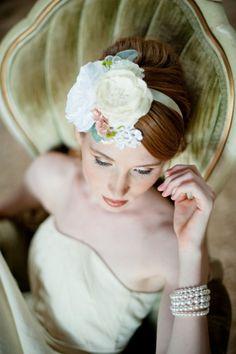See French wedding blog for more!    flowers headband #headband