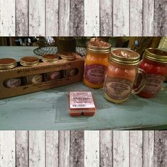 We have our Fall Scents!! Pumpkin Spice, pumpkin cream pie, falling leaves, and mulled cider. #cherisheverymoment #fallscents #candles