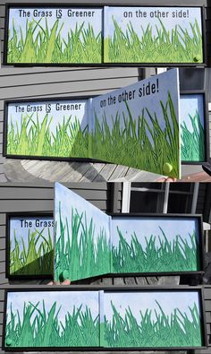 The Grass IS Greener - Moveable Folk Art Painting Sculpture by Rob Johnston