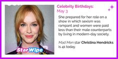 #MadMen star Christina Hendricks is 41 today!