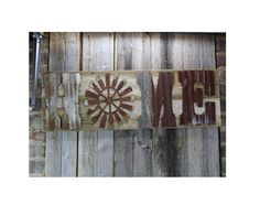 Rustic HOME sign letters – Rustic Metal Letters & Wall Art Metal Letters, Wall Decor, Wall Art, Home Signs, Windmill, Diy Projects, Decor Ideas, Rustic, Wood