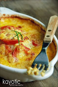 Codfish With Cheddar & Tomatoes
