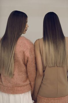 Ombre Hair... This is cool and all. But back in my day, we were just letting our roots grow out;)