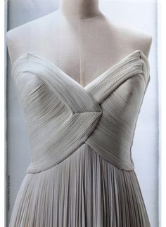 A 1940s gown by Madame Alix Grès. I would KILL to wear this for my wedding.