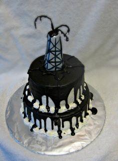 Oil rig #cake in buttercream