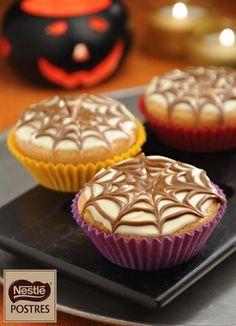Muffins araña para Halloween