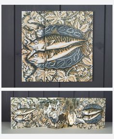 Orcadian Harvest Fold out card by Angie Lewin