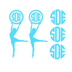 Hey, I found this really awesome Etsy listing at https://www.etsy.com/listing/179911117/vinyl-monogram-decal-dancer-set-of-5