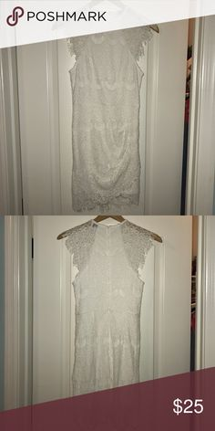 Mura Boutique white lace dress Brand new, never worn white lace dress. Perfect for a night out. Mura Boutique Dresses Mini