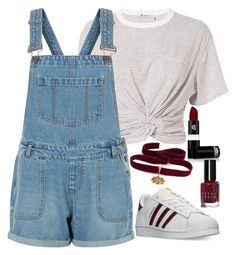 """""""Untitled #1622"""" by mihai-theodora ❤ liked on Polyvore featuring T By Alexander Wang, New Look, adidas, Lipstick Queen, Diego Percossi Papi and Bobbi Brown Cosmetics"""