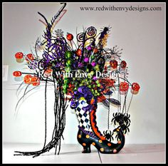 RAZ Halloween Center Piece RAZ Center Piece by RedWithEnvyDesigns, $130.00 #burtonandburton, #frightfullyfun