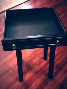 Antique drawer repurposed into side table
