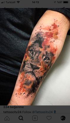 You can hear the roar of work by carolynn.art from São Paulo / SP Budgets . - You can hear the roar of carolynn.art& work in São Paulo / SP Budgets … – – - Wolf Tattoos, Lion Head Tattoos, Forearm Tattoos, Animal Tattoos, Body Art Tattoos, Tatoos, Trendy Tattoos, Unique Tattoos, Tattoos For Guys