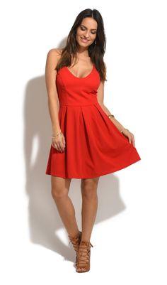 Robe LAURA rouge