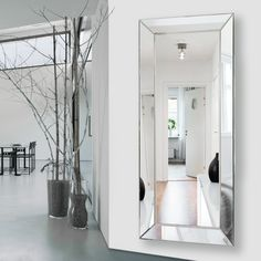 Jaw-Dropping Useful Ideas: Frameless Wall Mirror Glass Showers oval wall mirror interior design. Mirror Wall Collage, Tall Wall Mirrors, Wall Mirror With Shelf, Rustic Wall Mirrors, Contemporary Wall Mirrors, Living Room Mirrors, Round Wall Mirror, Mirror Set, Large Mirrors