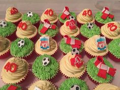 Hand baked cakes and cupcakes made with premium ingredients for corporate events and special occasions. Harry Birthday, 18th Birthday Cake, Birthday Cupcakes, Boy Birthday, Birthday Parties, Fluffy Cupcakes, Yummy Cupcakes, Paul Cakes, Liverpool Cake