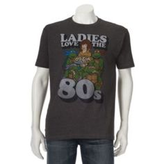 Teenage Mutant Ninja Turtles Ladies Love the 80s Tee - Men