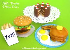 I Love these little foods all made out of Nilla Wafers!  I really like the miniture cake gift bag or cake pop idea.