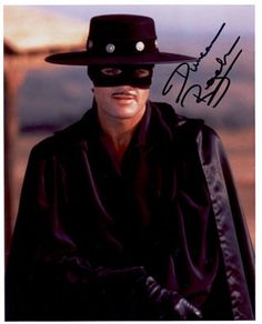 Duncan Regehr as Zorro in the early 90's tv show. My family & I love this show so much! We bought every season.