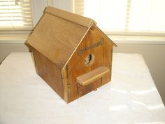 antique bottom opening birdhouse