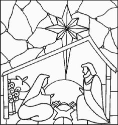 Nativity Manger Scenes Coloring Pages, Nativity Scene Coloring Pages