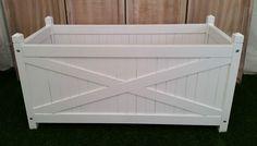 Hamptons Hardwood White Rectangle Planter Boxes ON Sale | eBay