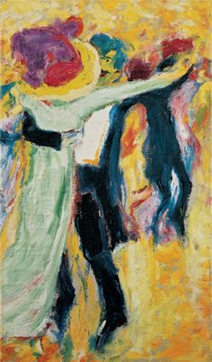 Emil Nolde, Dance II, 1911, oil on canvas, 104.5 x 61 cm, Nolde Stiftung Seebüll