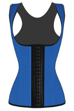 Waist Training Blue (with shoulder straps)