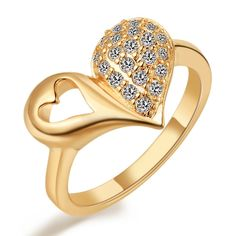 Find More Rings Information about Silver 925 Women Rings Wedding Anniversary Rose Gold Plated Imitation Diamond Ring Heart Shape Bisuteria Anillos Ulove J309,High Quality ring blank,China ring set Suppliers, Cheap ring men from Ulovestore Jewelry on Aliexpress.com