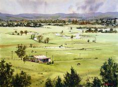 Watercolour Paintings By Australian Artist Joe Cartwright...looks like Klamath area...