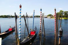 Gondolas at Epcot - Orlando, Florida