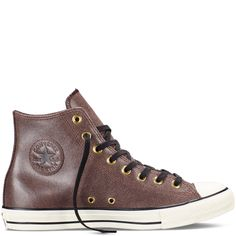 Converse - Chuck Taylor All Star Vintage Leather -Burnt Umber - High Top Leather  Converse f2d261882