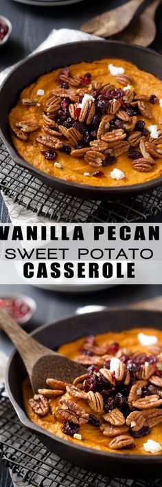 Healthy Sweet Potato Casserole | Gluten Free, Paleo, Clean Eating, With Pecans, Easy, Low Carb, Maple Syrup, Comfort Food