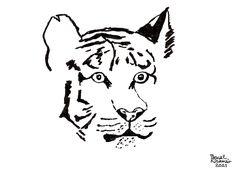 """Tiger"", ink on paper, 21 x 29,7 cm Caricatures, Cartoons, Ink, Paper, Cartoon, Cartoon Movies, India Ink, Caricature, Comics And Cartoons"