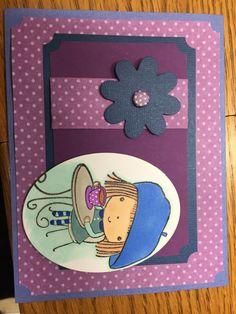 Penny Black Girl Stamped Card