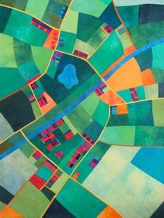 Map quilts - pieced by Alicia Merrett  Canal Country