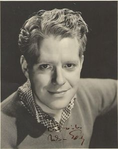 Original, double weight, signed photo of our favorite baritone, Mr. DDG, Nelson Eddy.-ESCANO COLLECTION