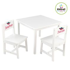 KidKraft Personalized Aspen Kids' 3 Piece Table and Chair Set & Reviews | Wayfair