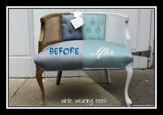 The Big Reveal – Goodwill Chair by @mom2gracie on @BonbonBreak Crafts,DIY & Decor in the Mom Cave,#Momcave
