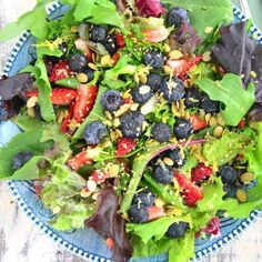 Blueberry Salad With Coconut Cilantro Dressing Recipe  with 10 ingredients