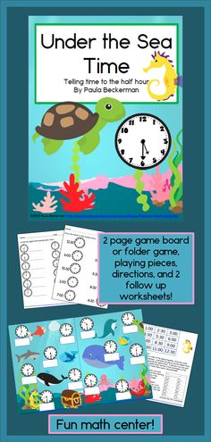 Telling time to the hour and half hour is fun with these ocean themed games, and with 3 levels of difficulty, you can easily differentiate! TpT$