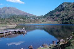 Etang de Lers, a beautiful lake in the Ariege region of the French Pyrenees