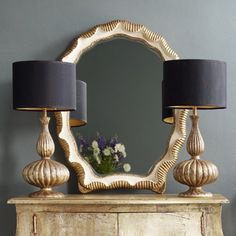 black and gold lamps - Google Search