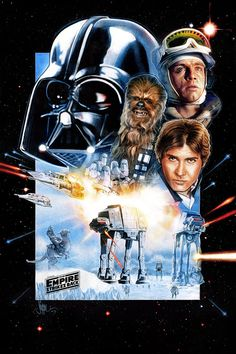 Star Wars: The Empire Strikes Back  'Battle of Hoth' Game Poster Illustration